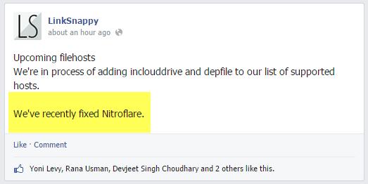 Nitroflare premium with a Linksnappy Elite Account