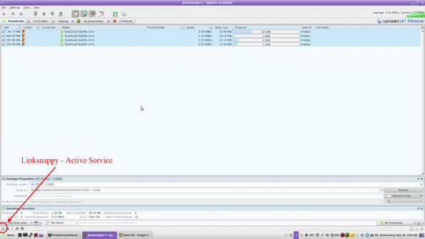 Testing Linksnappy with Depfile and jDownloader